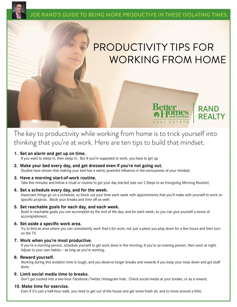 Rand, 10 Productivity Tips for Working From Home