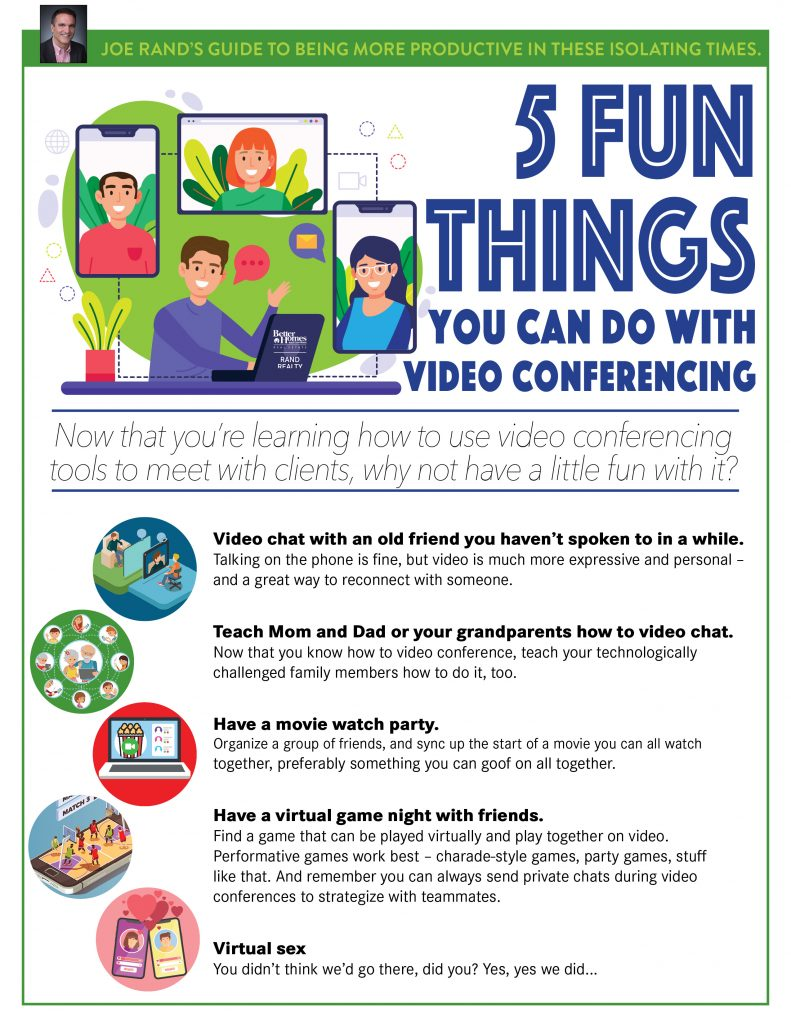 Rand, 5 Fun Video Conference Ideas